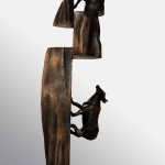 Reza Gharebaghi<br>From Selij Series<br>Bronze<br>50x16x13cm<br>2011