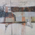 House and Fisherman<br>Mixed Media on Canvas<br>150x150<br>2011-2016