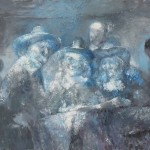 The Frozen Bourgeois (Original Artwork by Rembrandt)<br>Acrylic on Canvas<br>2014