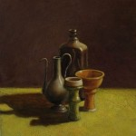 Still life <br> 47 x 47 <br> Oil on Canvas <br> 2014
