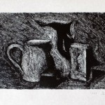 Still life <br>  30 x42 <br> Monotype <br> 2014
