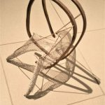 Untitled ، material : wood , string, Metal nets -Dimensions : 30*25*40 , 2017 -2018