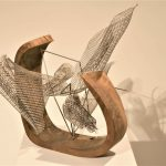 Untitled ، material : wood , string, Metal nets -Dimensions :  34*33*30 , 2017 -2018